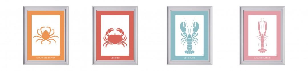 Affiches Crustacés